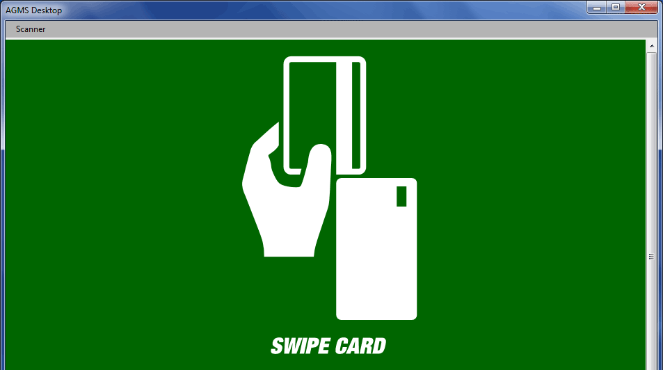 Swipe the customer's card