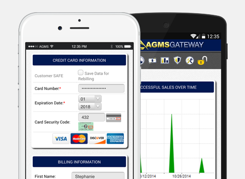 AGMS Gateway on iOS and Android